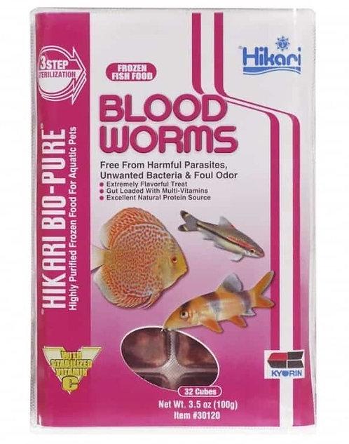 Hikari Frozen Blood Worms Cubes 3.5oz
