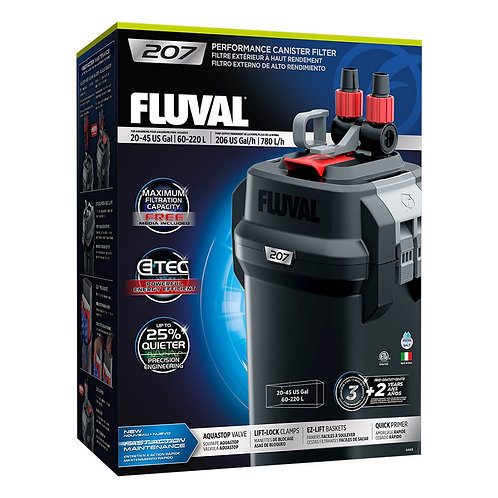 Fluval 207 Performance Canister Filter, up to 45 US Gal (220 L)
