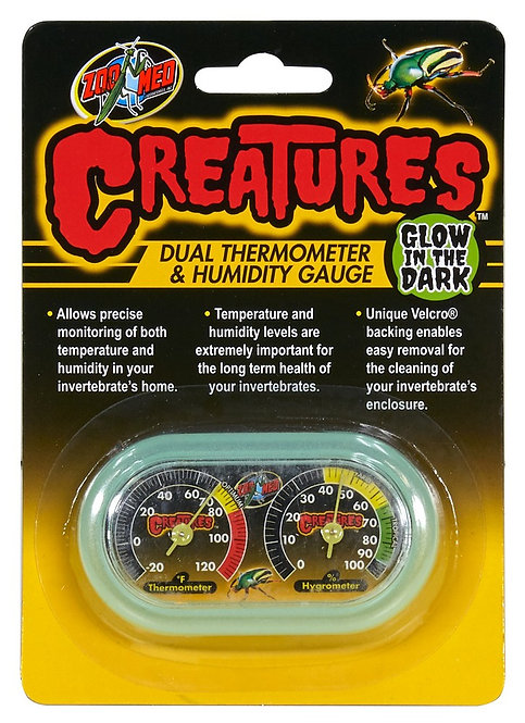 Zoo Med Creatures Dual Therm/Humidity Gauge