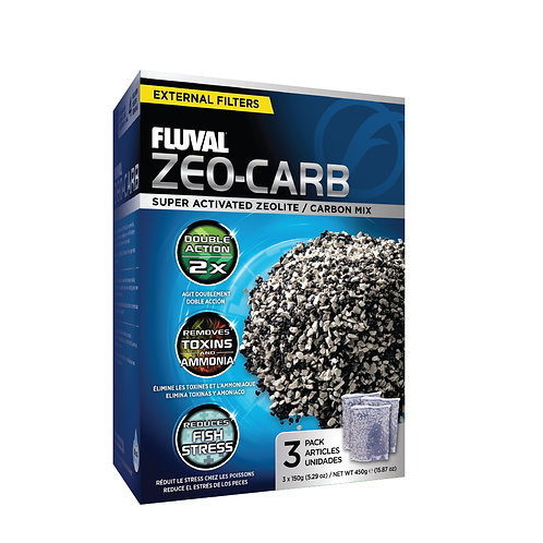 Fluval Zeo-Carb, 3 x 150 g (5.29 oz)