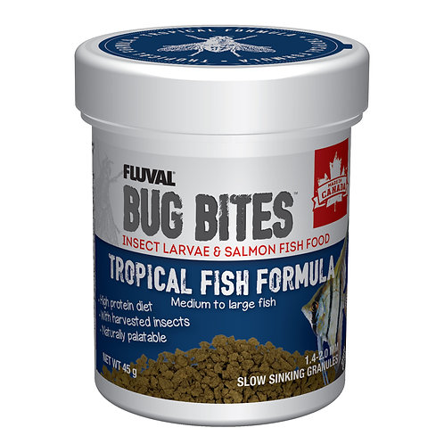 Fluval Bug Bites Tropical Fish Formula M-L