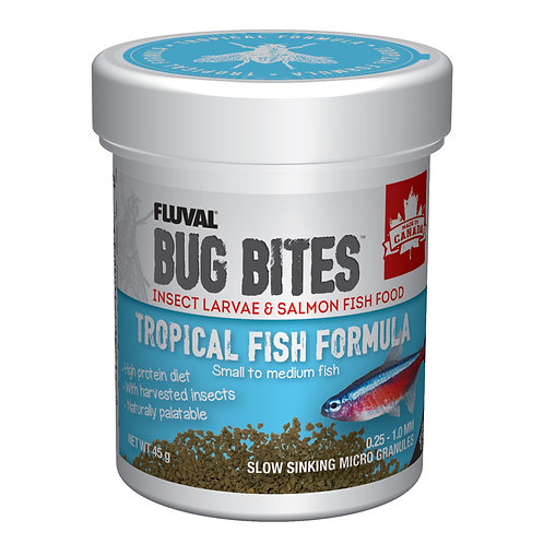 Fluval Bug Bites Tropical Fish Formula  S-M 45g