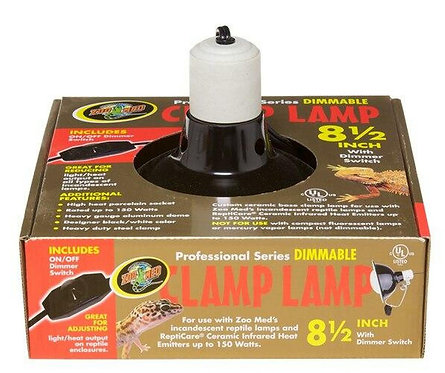 """Zoo Med Profesional Dimable Clamp  Lamp 8.5"""""""