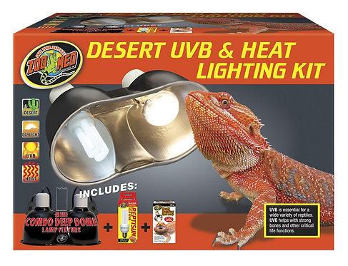 Zoo Med Desert UVB & Heat Lighting Kit