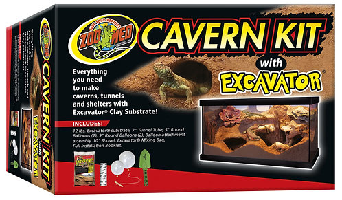Zoo Med Cavern Kit With Excavator Sand 12lb