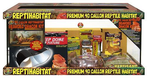 Zoo Med ReptiHabitat Terrarium Bearded Dragon Kit 40Gal