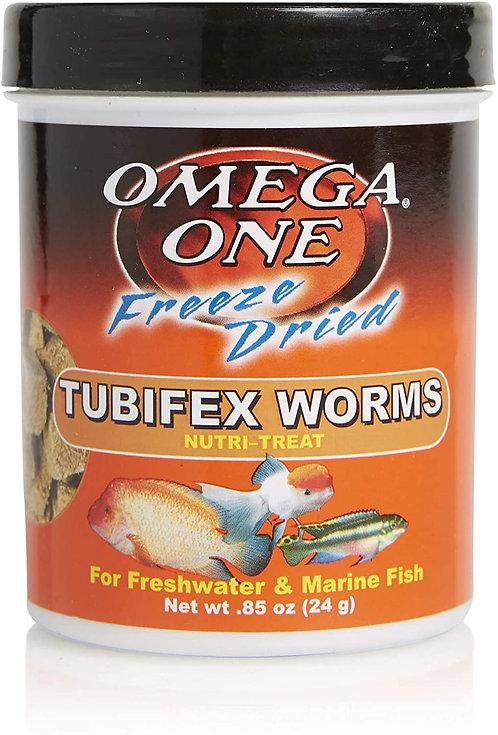 Omega One Freeze Dried Nutri-Treats Tubifex Worms .85oz