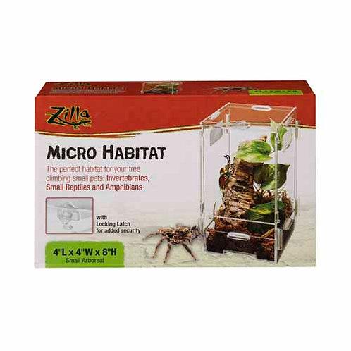 Zilla Micro Habitat Arboreal Small 4X4X8In