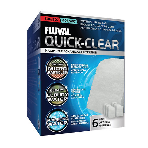 Fluval 306/406, 307/407 Quick-Clear 6Pk