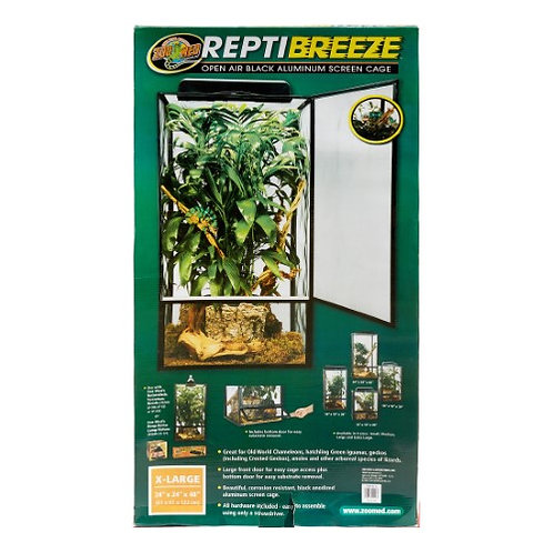 Zoo Med Reptibreeze Open Air Screen Cage 24x24x48
