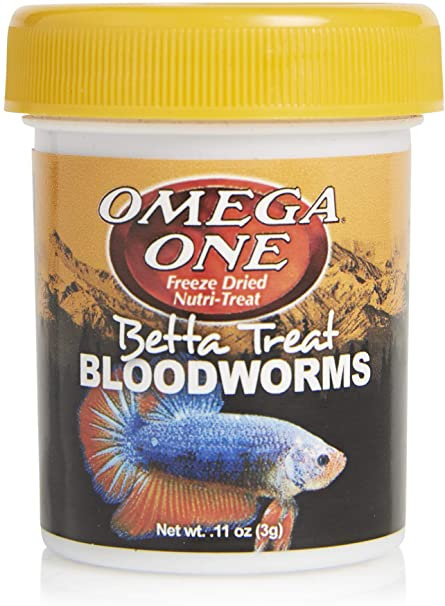 Omega One Betta Treat Bloodworms .11oz