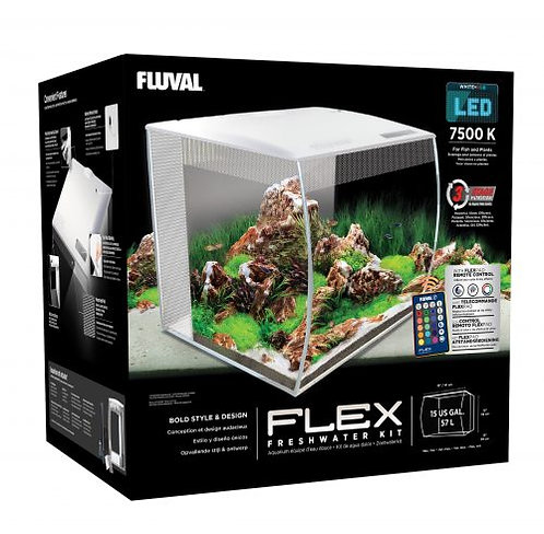 Fluval Flex Aquarium Kit White