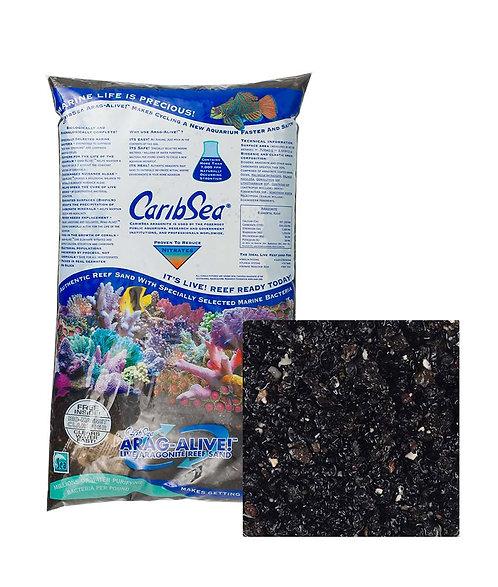 CaribSea Arag-Alive Aragonite Reef Sand 10 lb Hawaiian Black