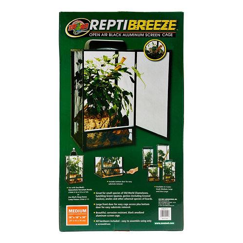 Zoo Med ReptiBreeze Open Air Black Aluminum Reptile Screen Cage Medium 16x16x30