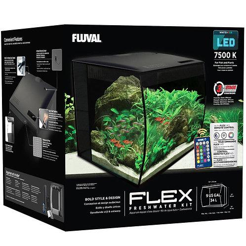 Fluval Flex Aquarium Kit Black