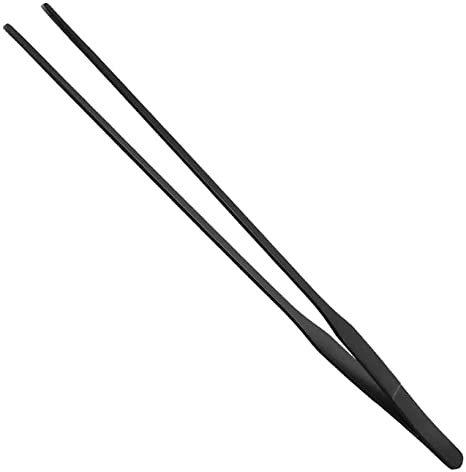 Tweezers Black Straight