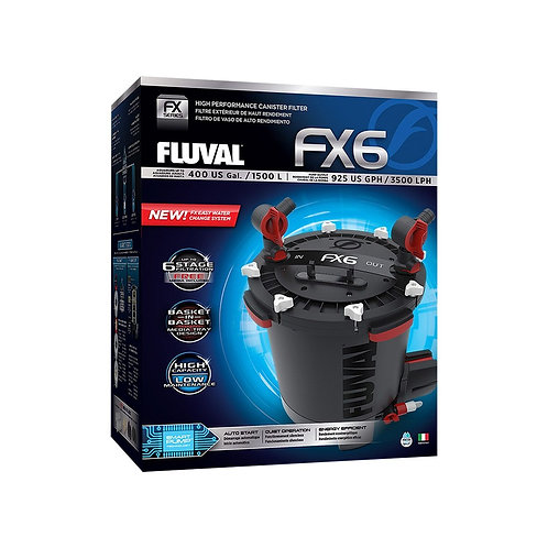Fluval FX6 High Performance Canister Filter, up to 400 US Gal (1500 L)