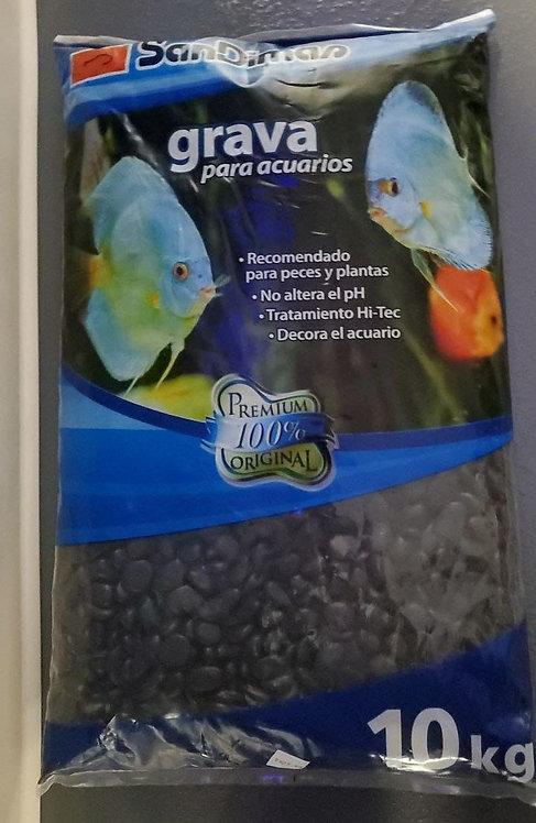 SanDimas Aquarium Gravel Black 10kg