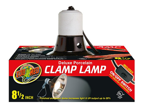 Zoo Med Deluxe Porcelain Clamp Lamp Black