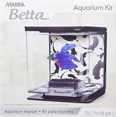 Marina Betta Aquarium Kit  Yin Yang Theme 1/2G