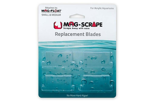Mag Float Acrylic Replacement Blades Small/Medium 4Pk