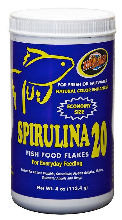 Zoo Med Spirulina 20 Flakes Bottle