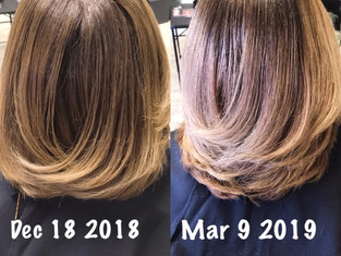 After just 3 months of TLH care maintenance this is the growth results .