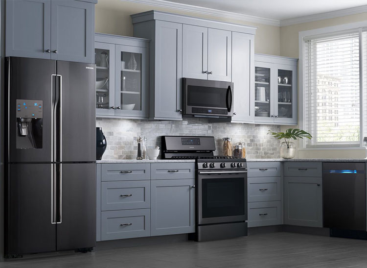 matte black stainless steel appliances
