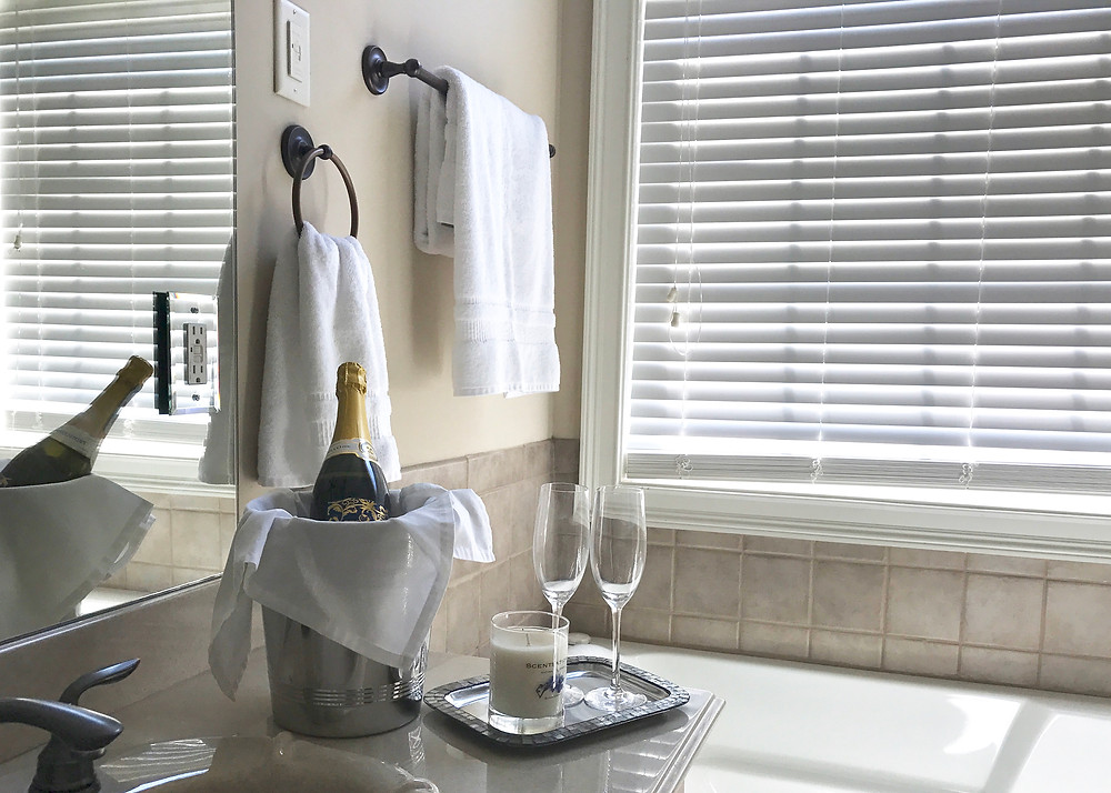 Add some chilled champagne for a romanic touch