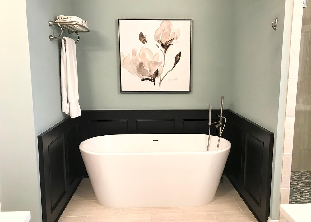 Create a serene, spa feel to help your bathroom shine