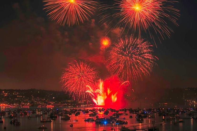 Seattle, 4th July Fireworks