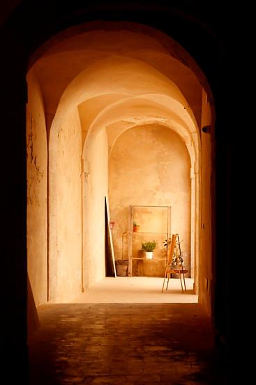 Sunlit passageway