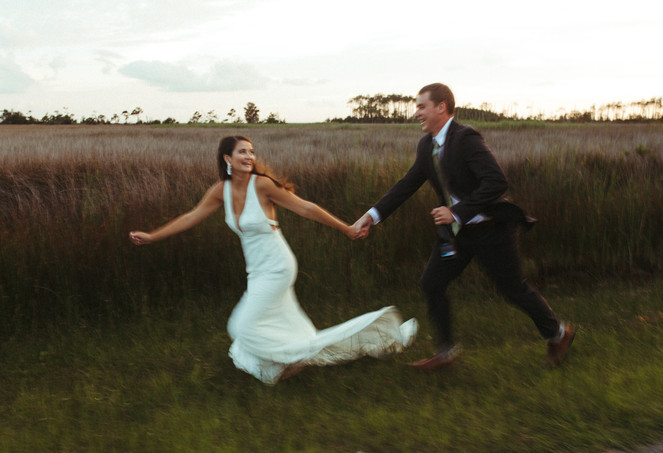 Classic Wedding in the Outer Banks Wetlands