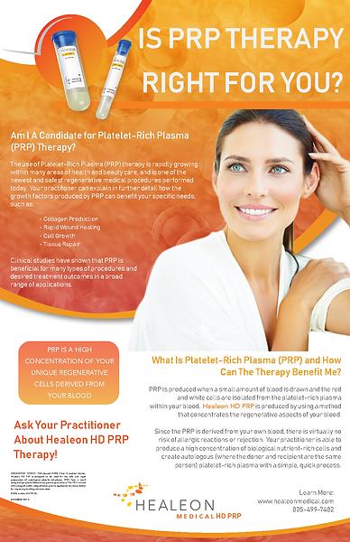 HD PRP 11x17 Placard Patients 03HM0038 R