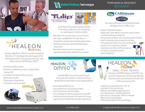 MedWellness Tech Brochure HD PRP TriFold