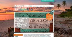Backyard Art SoFlo website