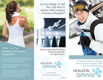 Healeon Amnio Patient Brochure - Ortho 0