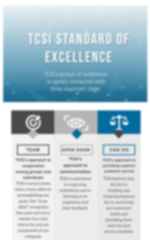 TCSi Standard of Excellence Infographic.