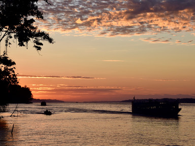 Sunrise over the Amazon River
