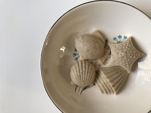 Oatmeal & Honey Goat Milk Seashells Soap - Dye Free - Fragrance Free