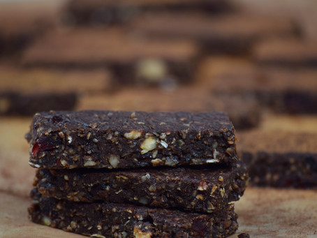 Vegan Dark Chocolate Cranberry Granola Bars