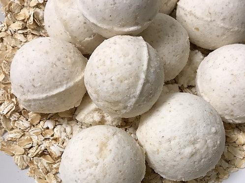 Oatmeal & Honey Epsom Salt Coconut Oil  Bath Bomb - Standard Tub