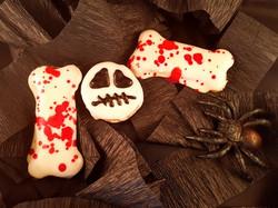 Halloween Skull and Bones Dog Treats