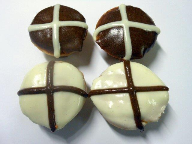 Easter Dog Treat Hot Cross Muffin