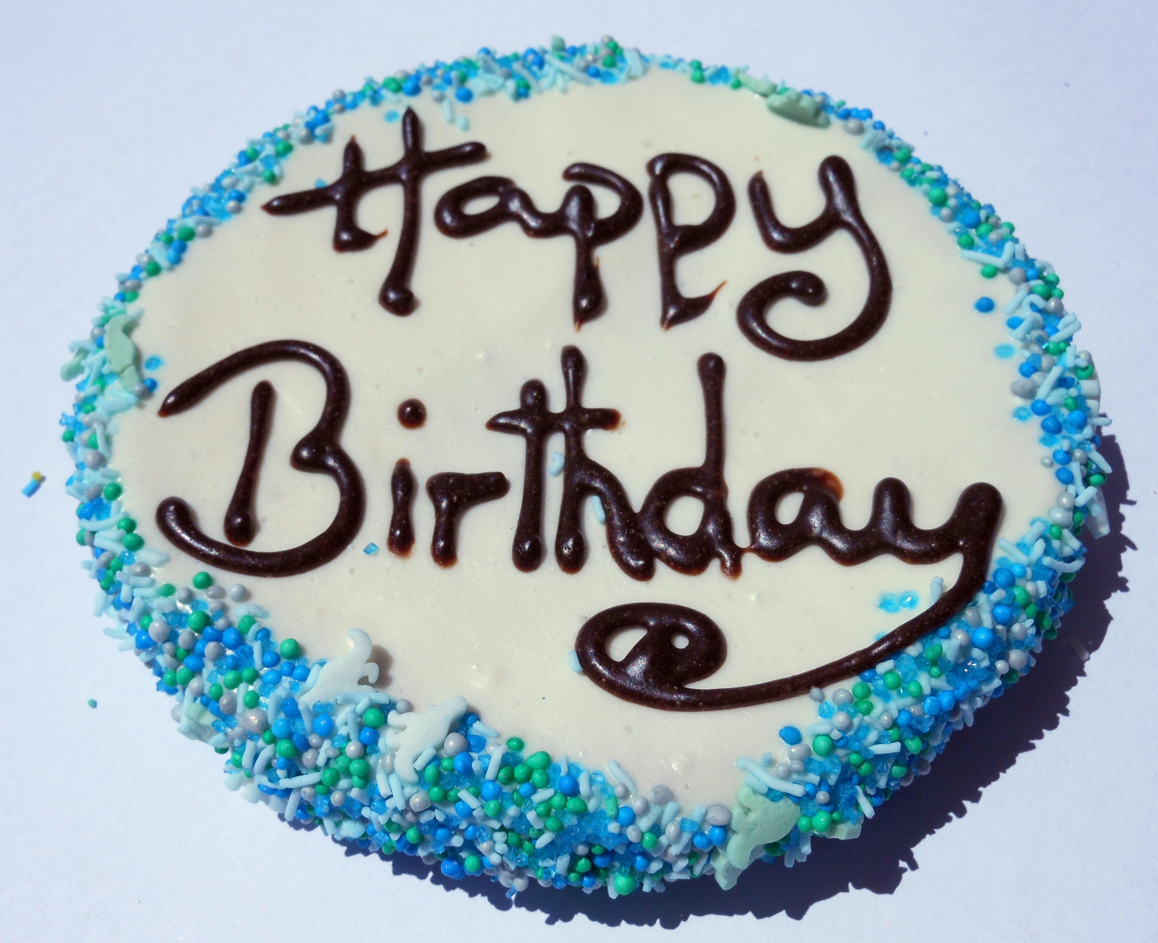 YOGURT DOGGY BIRTHDAY CAKE DOG TREAT