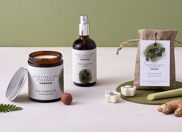 The Composer Wellness Gift Set | Candle, Mist and Wax Melts