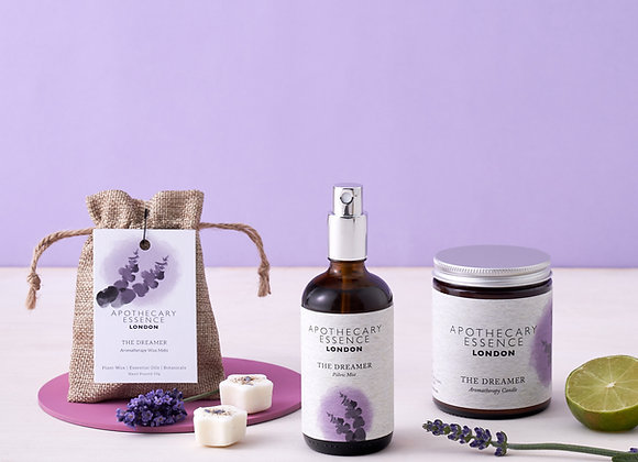 Sleep Well Gift Set | Aromatherapy Candle, Pillow Mist and Wax Melts