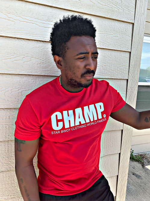 Champ Tee Red/White