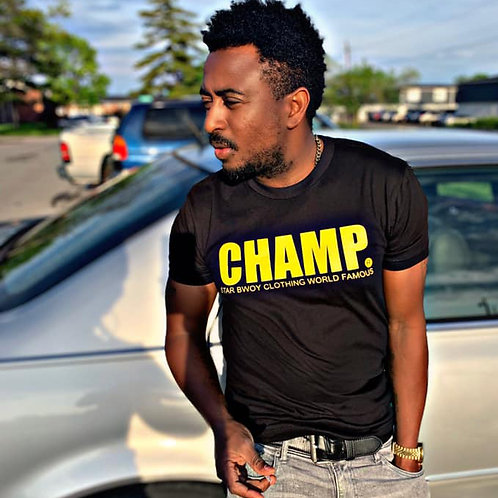 Champ Tee Black/Yellow