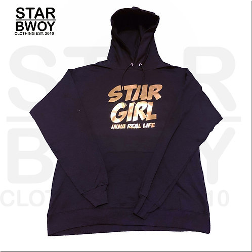 Star Girl Hoodies Black